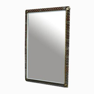 Mid-Century Brass Rectangular Mirror from Joseph Franck