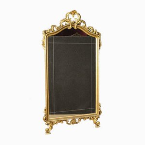 Italian Gilded Wood Mirror, 1960s
