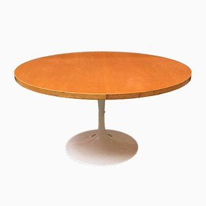 Italian Enamelled Metal & Oak Tulip Dining Table from Knoll Inc. / Knoll International, 1960s