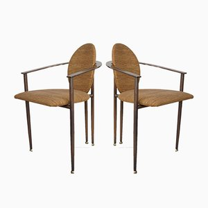 Vintage Dining Chairs from Belgo Chrome / Dewulf Selection, Set of 2
