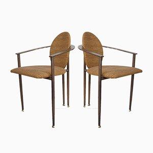 Vintage Esszimmerstühle von Belgo Chrome / Dewulf Selection, 2er Set