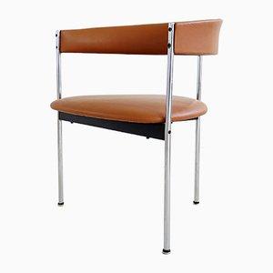 Leder Esszimmerstühle von Dieter Wäckerlin für Idealheim, 1970er, 4er Set