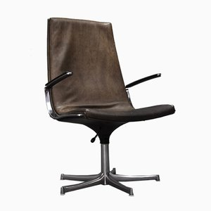 German Leather Desk Chair from Walter Knoll, 1970s
