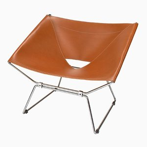 AP-14 Butterlfy Stuhl aus Leder von Pierre Paulin für A. Polak, 1950er