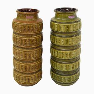 Jarrones de cerámica de Scheurich, años 70. Juego de 2