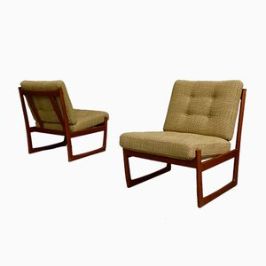 Danish Teak Lounge Chairs by Hvidt & Mølgaard for France & Søn, 1960s, Set of 2