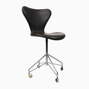Silla de escritorio 3117 de Arne Jacobsen para Fritz Hansen, años 50