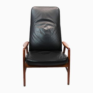 Leather Armchair by Alf Svensson for Fritz Hansen, 1960s