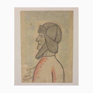 Self Portrait Zeichnung von Henry Heerup, 1940er