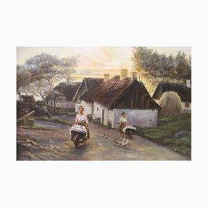 Ölgemälde von J. Jensen, 1916