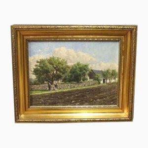Pintura al óleo de Niels Walseth, años 40