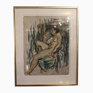 Pintura al óleo francesa, años 20