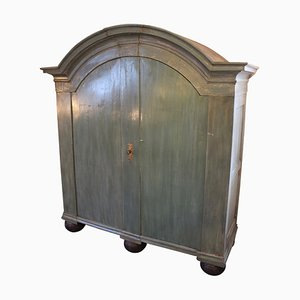 Large Danish Baroque Painted Cabinet, 1760s