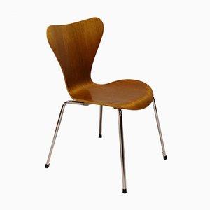 Sedie da pranzo nr. 3107 in teak di Arne Jacobsen per Fritz Hansen, 1996, set di 2