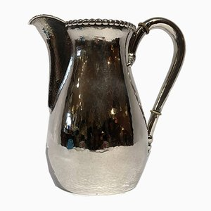 Hammered Silver Water Jug, 1920s