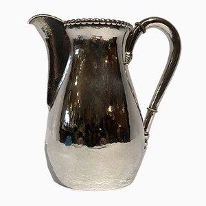 Wasserkrug aus gehämmertem Silber, 1920er