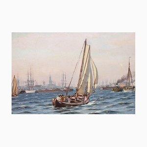 Antike Marine Malerei von Johan Neumann