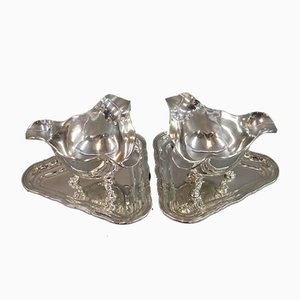 835 Silver Sauce Boats by Sofus Hansen, 1930s, Set of 2