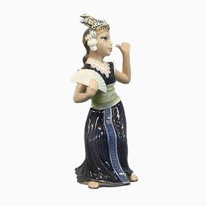 Oriental Porcelain Aju Sitra Dancer Figurine by Jens Peter Dahl-Jensen, 1920s