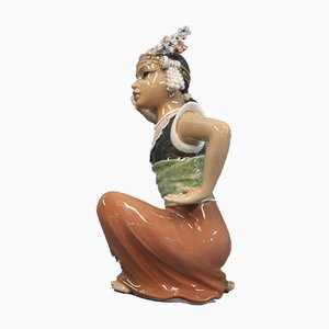 Oriental Porcelain Moulia Dancer Figurine by Jens Peter Dahl-Jensen, 1920s