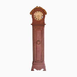Antique Danish Gustavian Painted Longcase Clock