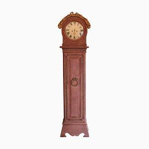 Reloj de pie danés gustaviano antiguo de pintado