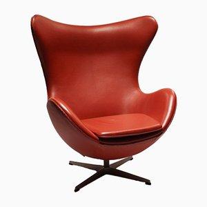 3316 Egg Chair aus Leder von Arne Jacobsen für Fritz Hansen, 2001