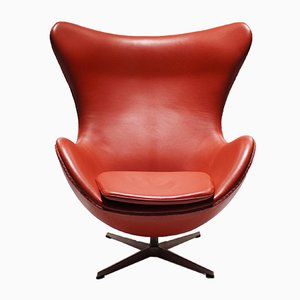 Leather 3316 Egg Chair by Arne Jacobsen for Fritz Hansen, 2001