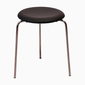 Leather Dot Stool by Arne Jacobsen for Fritz Hansen, 1971