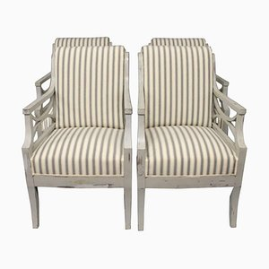 Gustavian Armchairs, Set of 2, 1810s