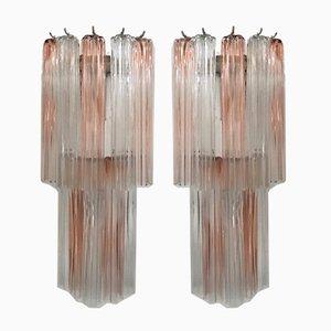 Große Murano Glas Wandlampen von Paolo Venini für Murano, 1970er, 2er Set
