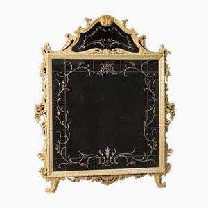 Italian Lacquered Mirror, 1960s