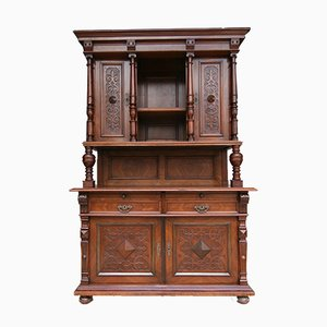 Antique Walnut Veneer Buffet