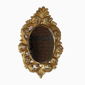 Espejo Mid-Century de bronce y pan de oro