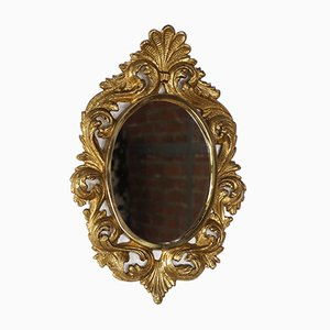 Mid-Century Bronze Gold Leaf Mirror