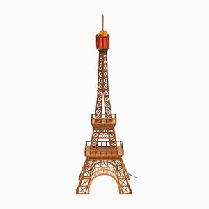 Italienische Eiffelturm Skulptur aus Holz, 1960er