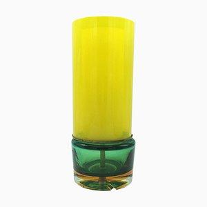 Lámpara de mesa Mid-Century de cristal de Murano de Flavio Poli para Seguso, años 70