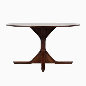 Mesa de comedor modelo 522 de palisandro de Gianfranco Frattini para Bernini, años 60