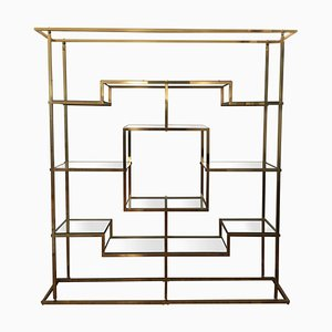 Brass Shelf by Romeo Rega, 1970s