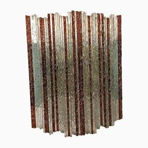 Aplique italiano de cristal de Murano de Poliarte, años 60