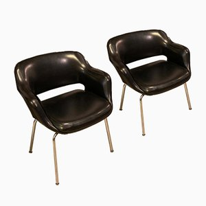 Leather Kilta Chair by Eugen Schmidt for Olli Mannermaa, 1970s, Set of 2