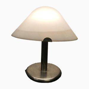 Italienische Chrom & Glas Tischlampe, 1960er