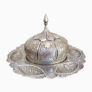 Orientalische Mid-Century Schale aus Silber