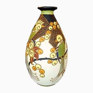 Jarrón Art Déco de cerámica de Boch Freres Keramis, 1926