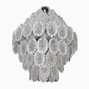 Crystal Glass Chandelier, 1960s