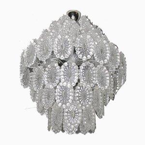 Lámpara de araña de cristal, años 60