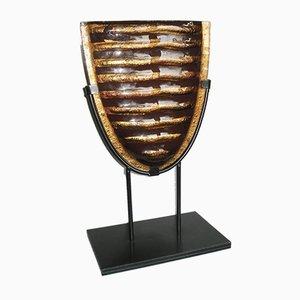 Escultura italiana de cristal de Murano al estilo de Fratelli Toso, años 60