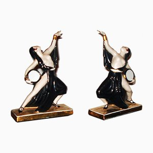 Art Deco Ceramic Bookends by Robj, 1920s, Set of 2