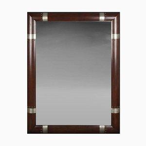 Moderner Vintage Spiegel aus Holz mit versilbertem Rahmen