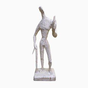 Grande Figurine en Plâtre par Jeannine Nathan, années 80